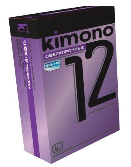 Сверхпрочные презервативы KIMONO - 12 шт.