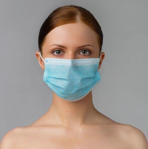 Треслойные одноразовые медицинские маски - 50 шт.-3879