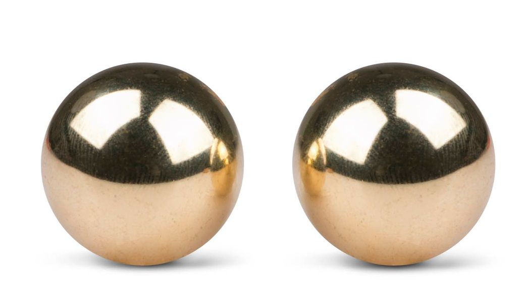 Золотистые вагинальные шарики без сцепки Ben Wa Balls-2843