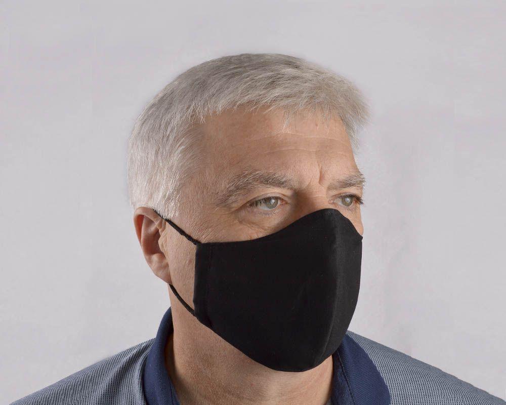 Черная мужская гигиеническая маска-