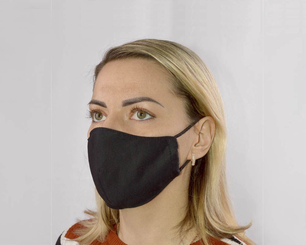 Черная женская гигиеническая маска-