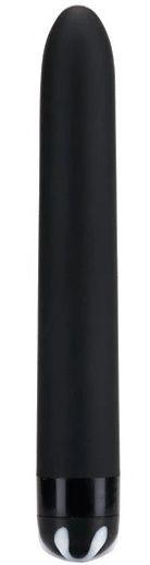 Черный гладкий вибромассажер Aqua Silk - 15
