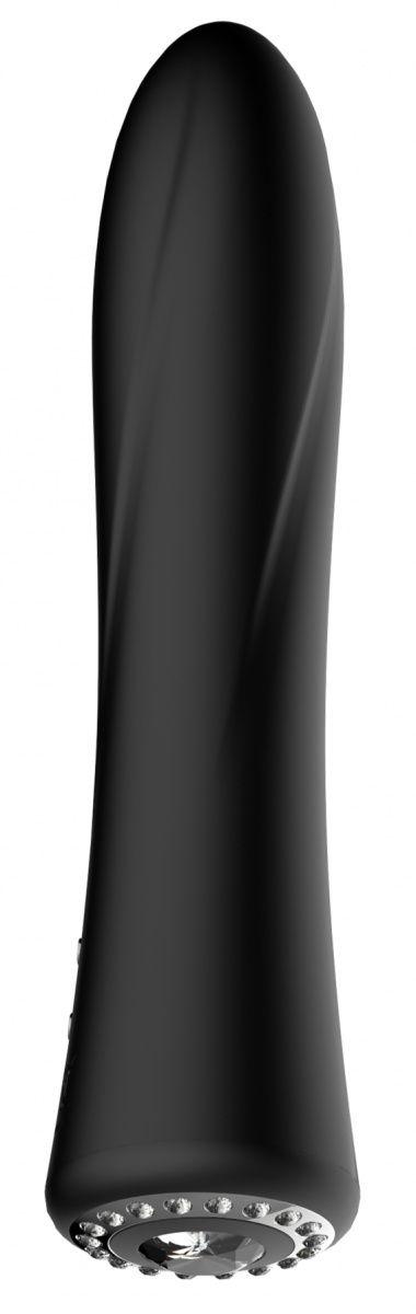 Черный классический вибромассажер Jewel - 19