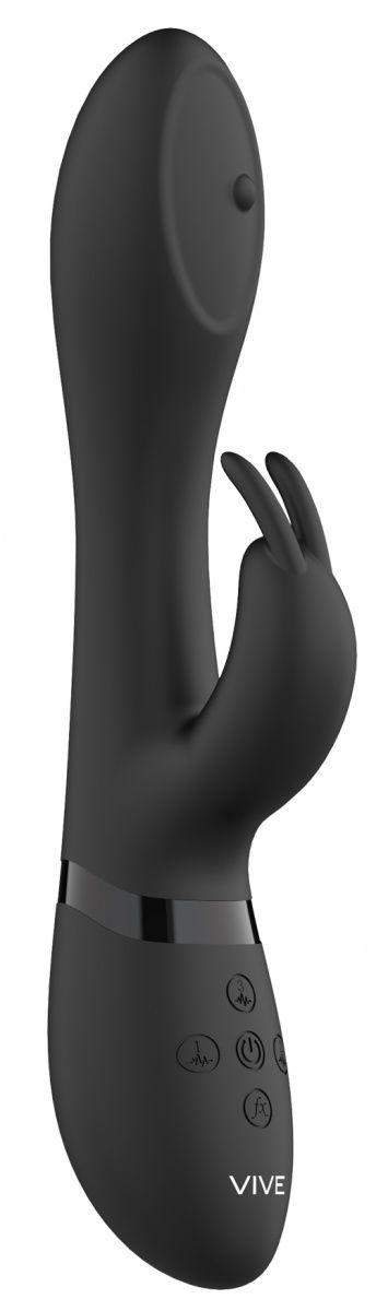 Черный вибромассажер-кролик Mira - 21