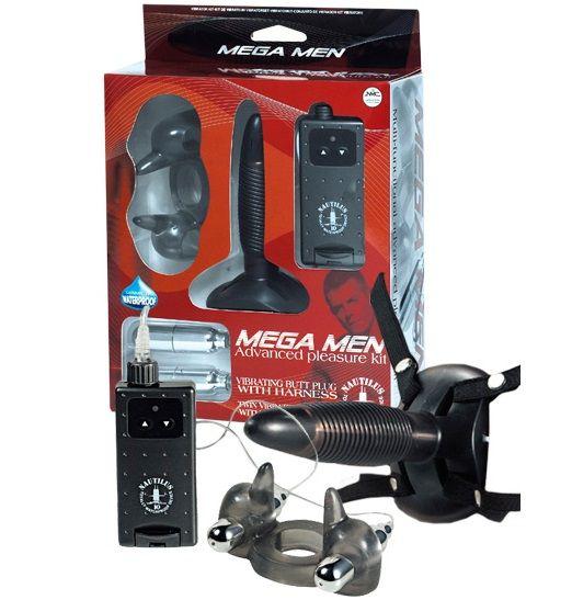 Черный вибронабор MEGA MEN-
