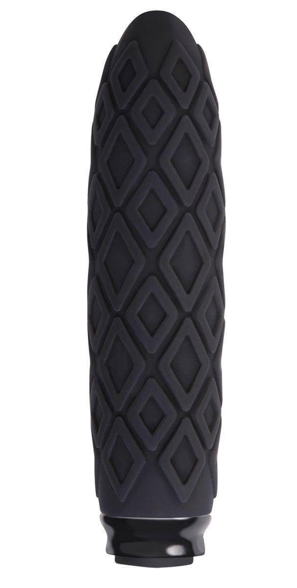 Чёрный фактурный мини-вибратор Luxe Compact Vibe Princess - 10