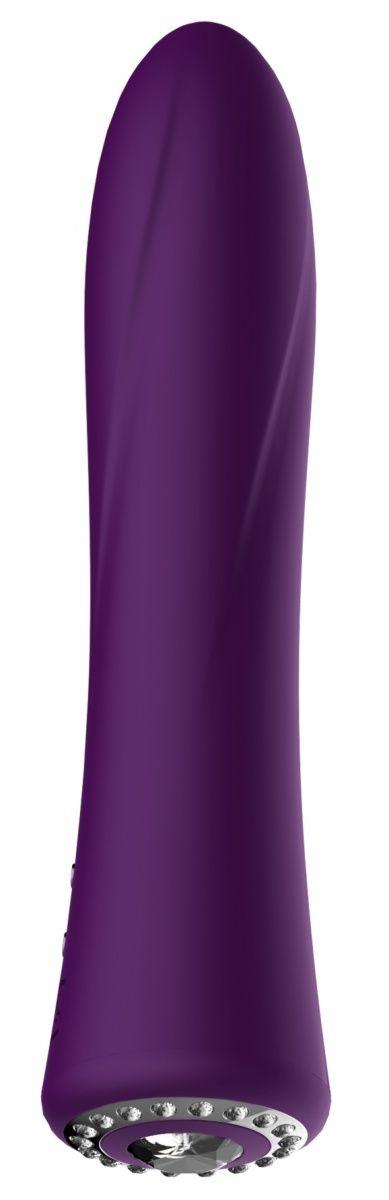 Фиолетовый классический вибромассажер Jewel - 19