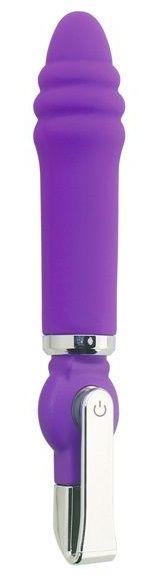 Фиолетовый вибратор ALICE 20-Function Desire Vibe - 16 см.-