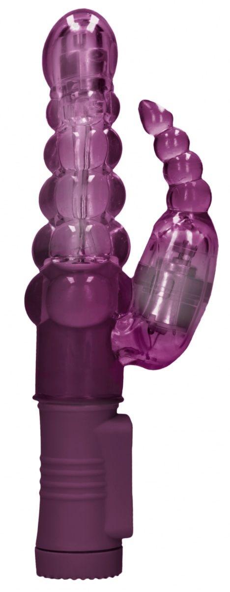Фиолетовый вибратор-кролик Rotating Bubbles - 23
