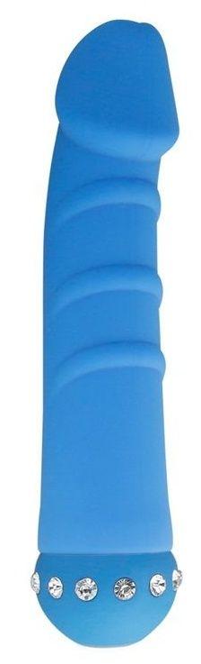 Голубой вибратор SPARKLE SUCCUBI VIBRATING DONG - 14