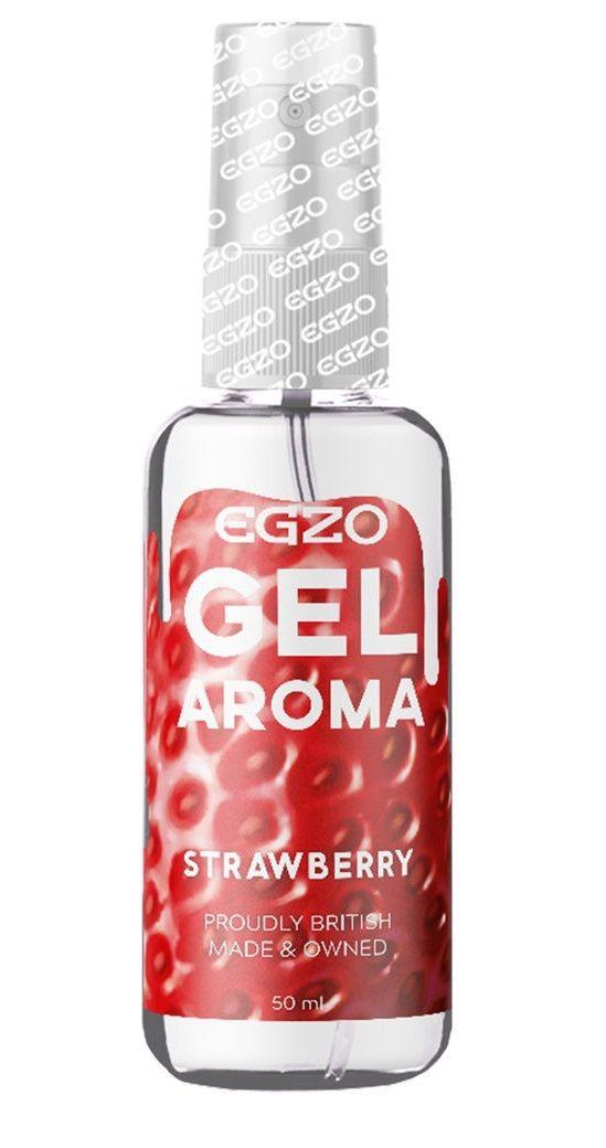 Интимный лубрикант EGZO AROMA с ароматом клубники - 50 мл.-