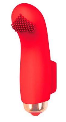 Красная вибропулька с шипиками - 7