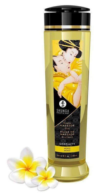 Массажное масло с ароматом моной Serenity - 240 мл.-