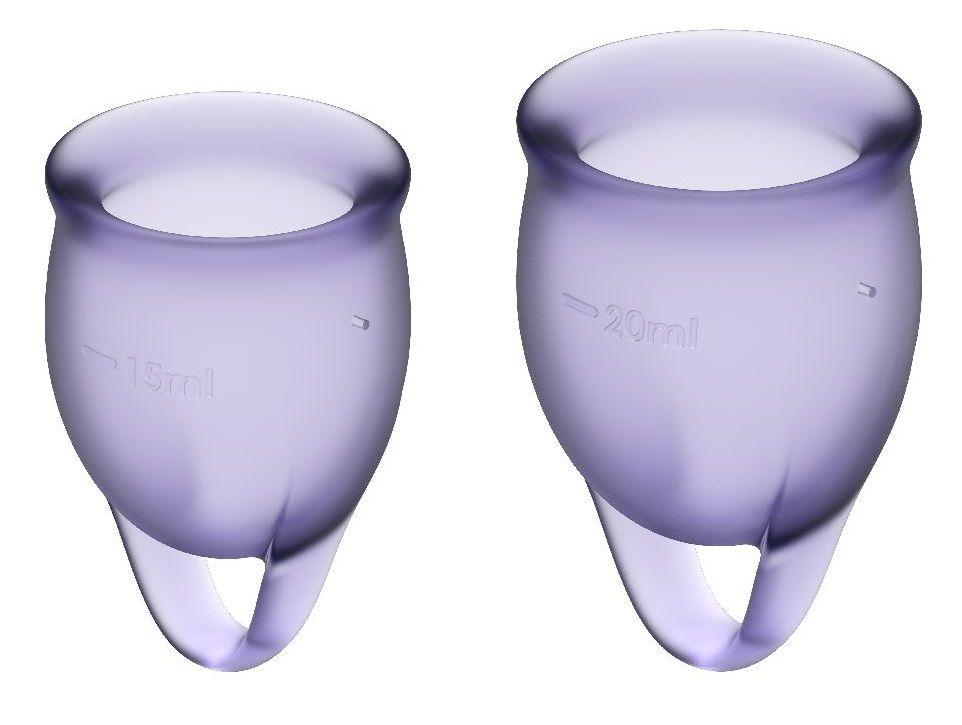 Набор фиолетовых менструальных чаш Feel confident Menstrual Cup-