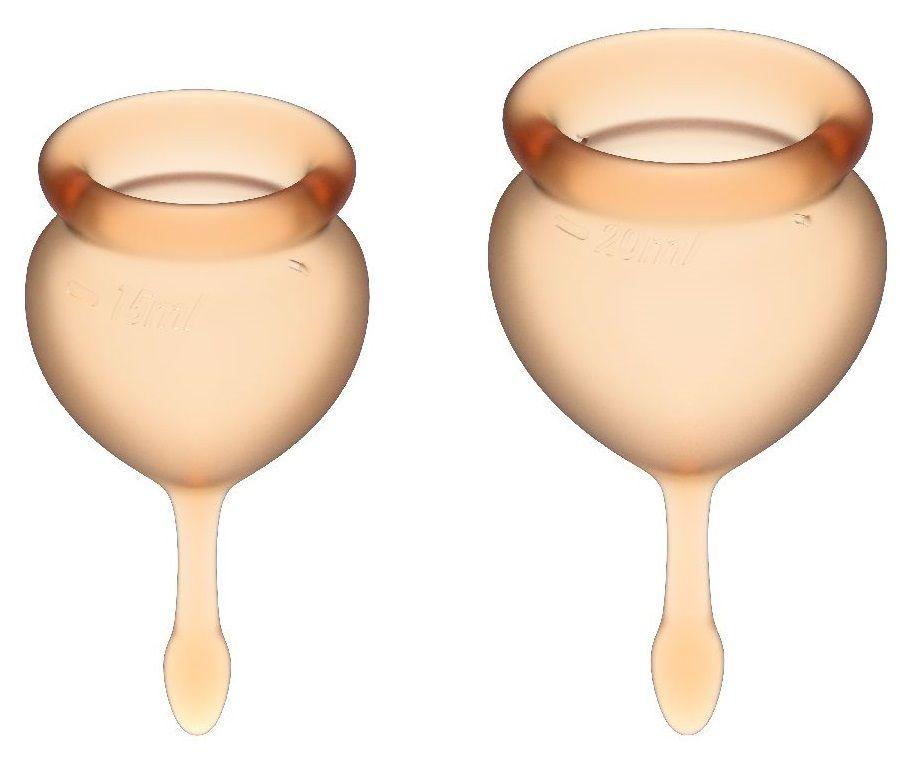 Набор оранжевых менструальных чаш Feel good Menstrual Cup-
