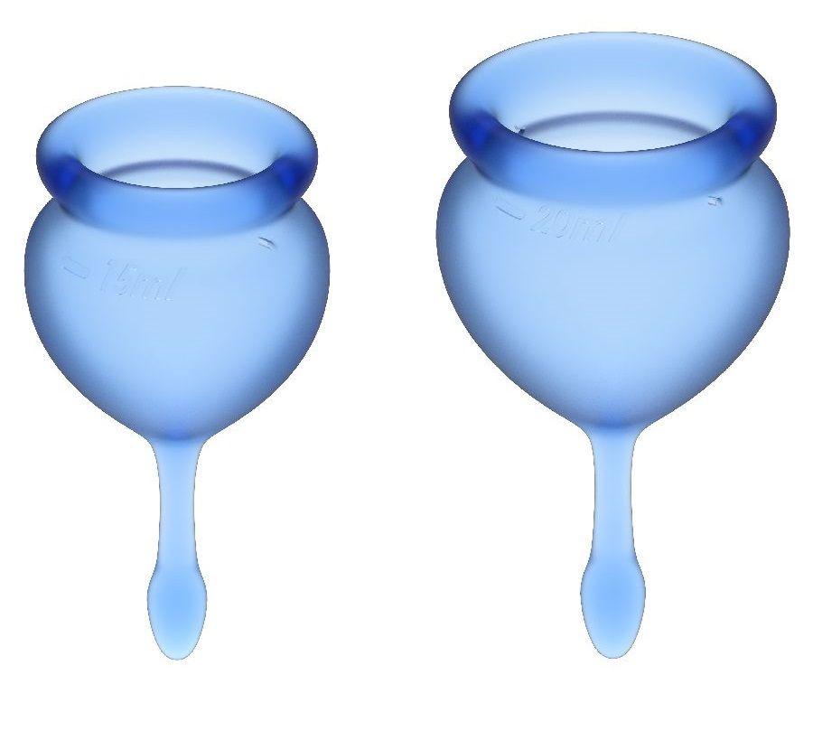 Набор синих менструальных чаш Feel good Menstrual Cup-