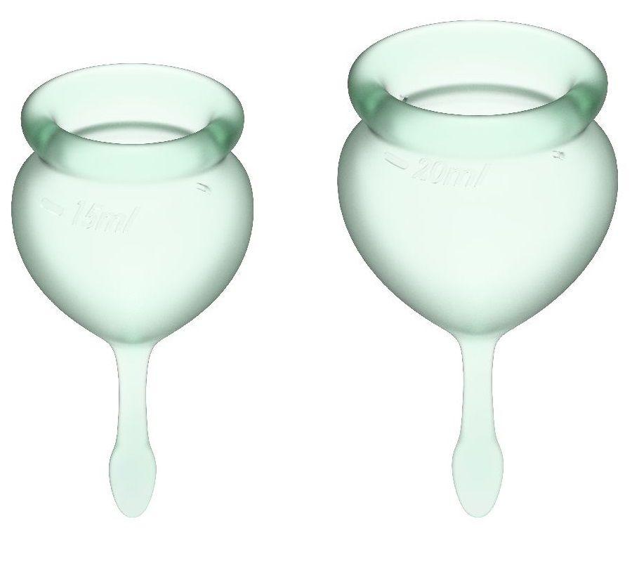 Набор зеленых менструальных чаш Feel good Menstrual Cup-