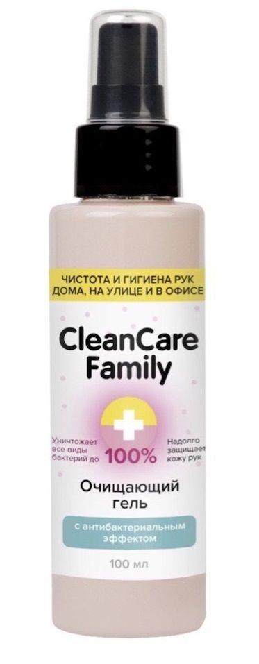 Очищающий гель с антибактериальным эффектом CleanCare Family - 100 мл.-