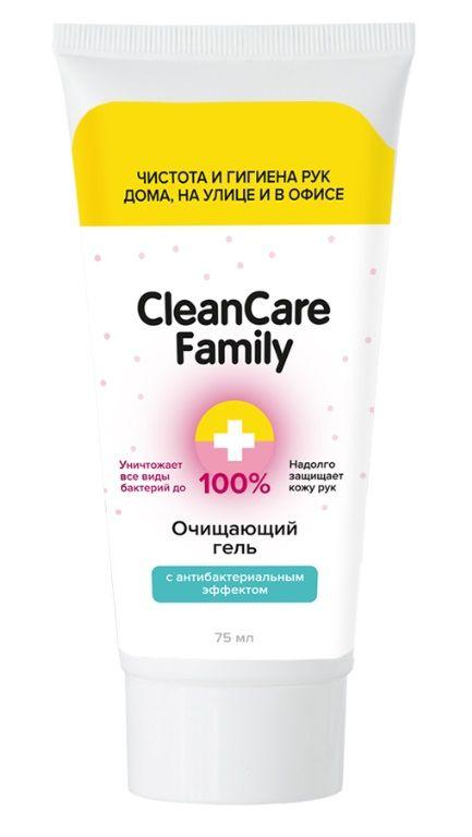 Очищающий гель с антибактериальным эффектом CleanCare Family - 75 мл.-