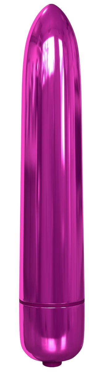 Розовая гладкая вибропуля Rocket Bullet - 8