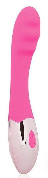 Розовый ребристый вибромассажер с 10 режимами вибрации