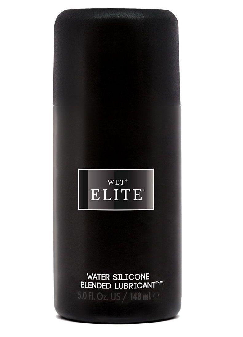 Водно-силиконовый интимный лубрикант Wet Elite - 148 мл.-