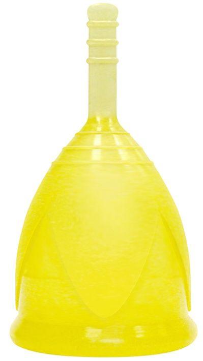 Желтая менструальная чаша размера S-