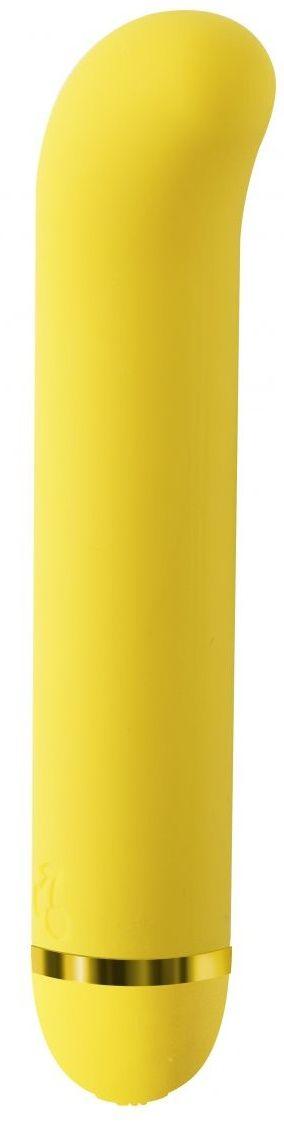 Желтый вибратор Fantasy Nessie - 18 см.