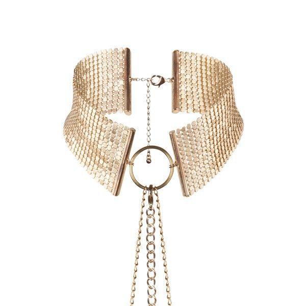 Золотистый ошейник с цепочками Desir Metallique Collar
