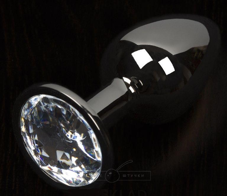 Графитовая анальная пробка с прозрачным кристаллом - 8
