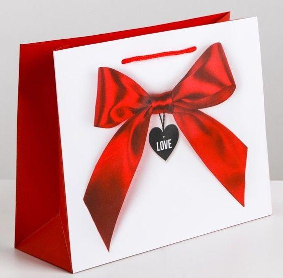 Подарочный пакет Счастье мое - 18 х 23 см.