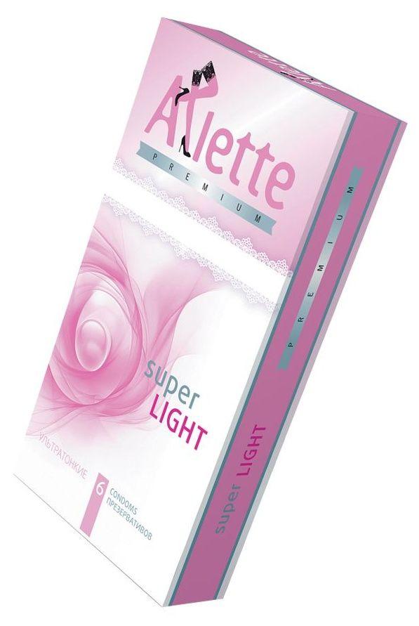 Ультратонкие презервативы Arlette Premium Super Light - 6 шт.