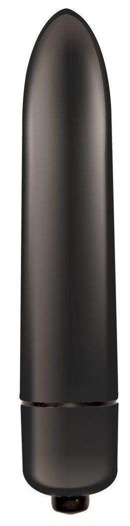 Черная гладкая вибропуля Mae - 9 см.