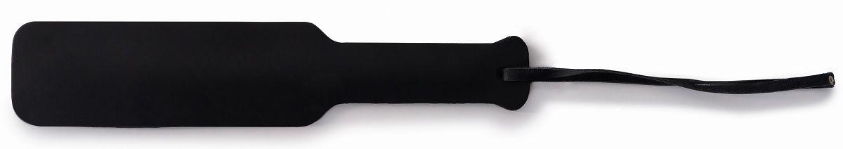 Черная классическая шлепалка с ручкой