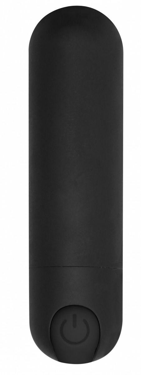 Черная перезаряжаемая вибропуля 7 Speed Rechargeable Bullet - 7