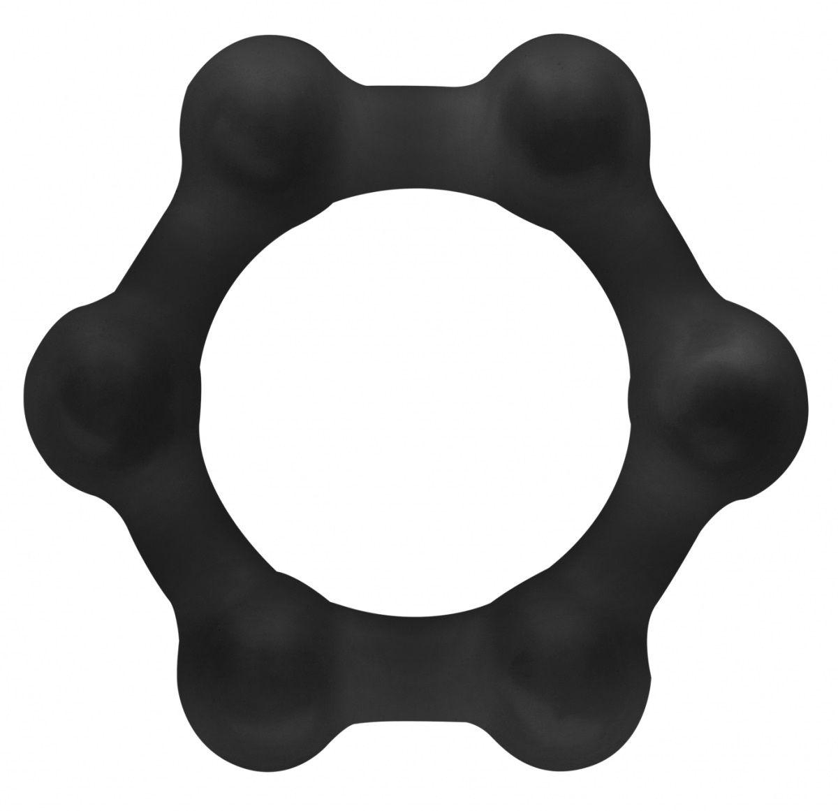 Черное утяжеленное эрекционное кольцо N 83 Weighted Cock Ring
