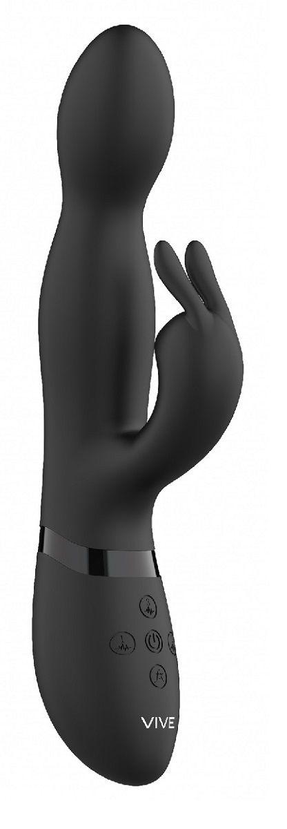 Черный вибромассажер-кролик Niva - 21