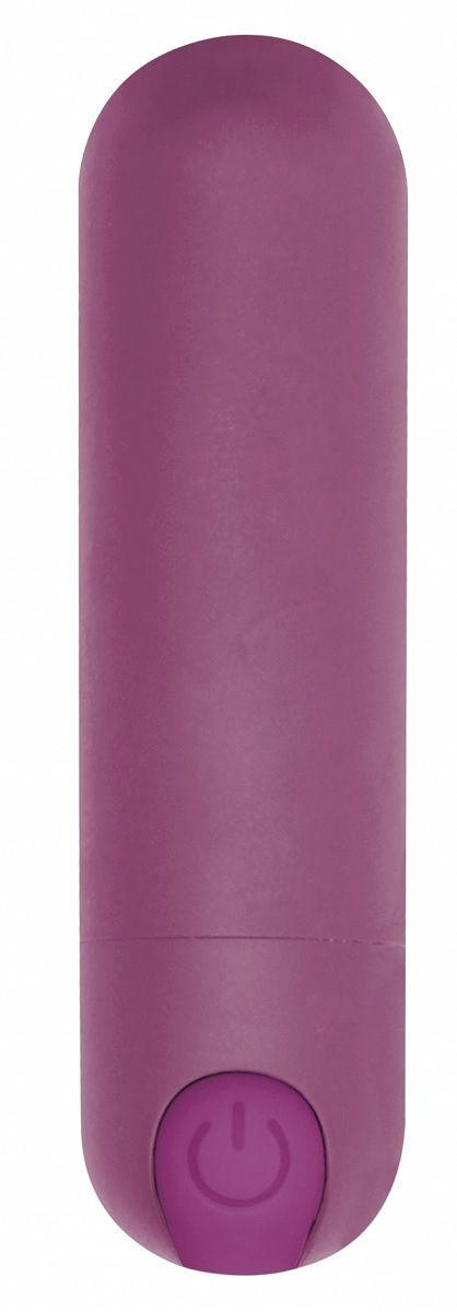 Фиолетовая перезаряжаемая вибропуля 7 Speed Rechargeable Bullet - 7
