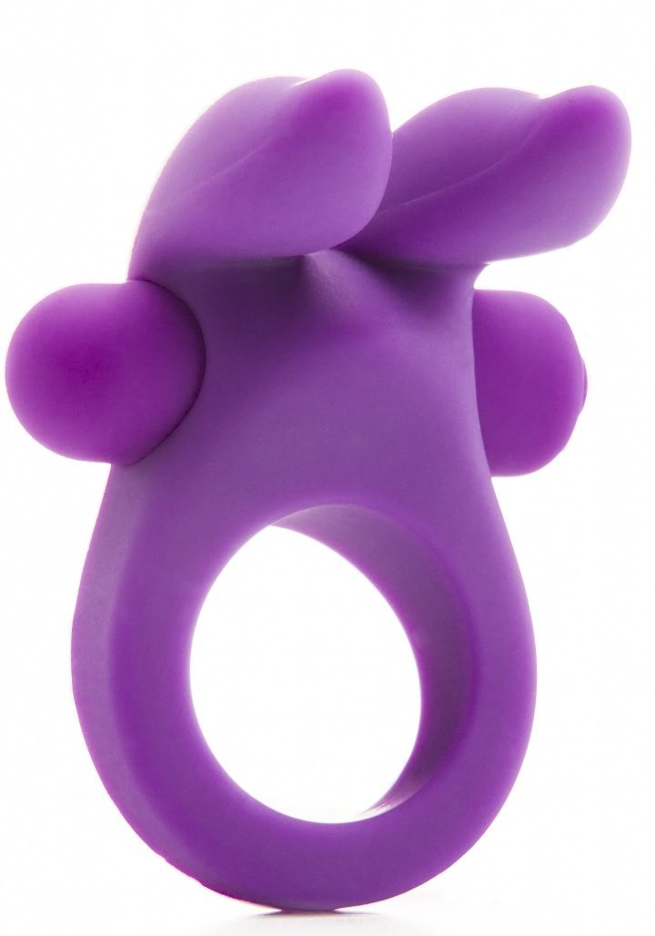 Фиолетовое эрекционное виброкольцо Rabbit Cockring