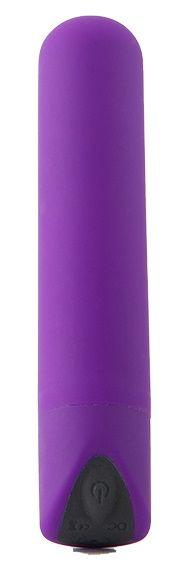 Фиолетовый мини-вибратор POWERFUL BULLET