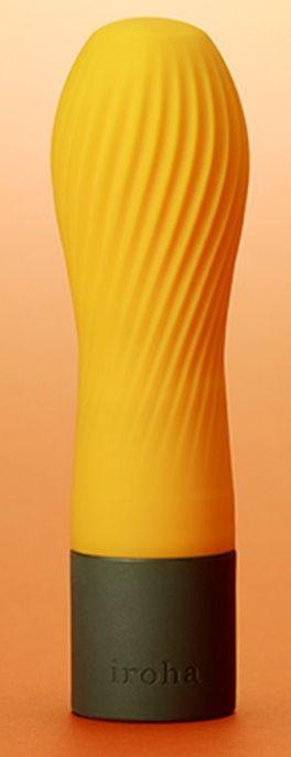 Оранжевый рифленый мини-вибратор IROHA ZEN YUZUCHA - 12