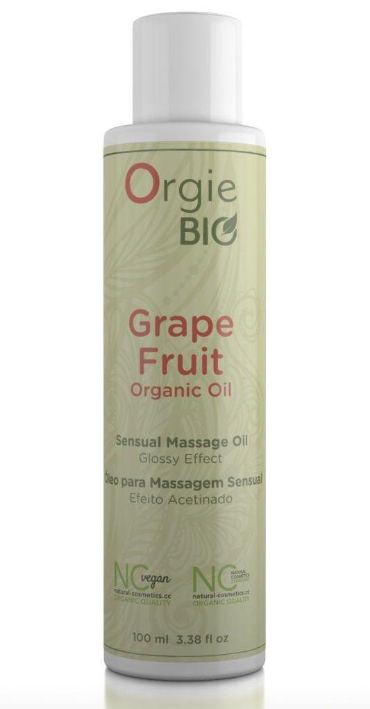 Органическое масло для массажа ORGIE Bio Grapefruit с ароматом грейпфрута - 100 мл.