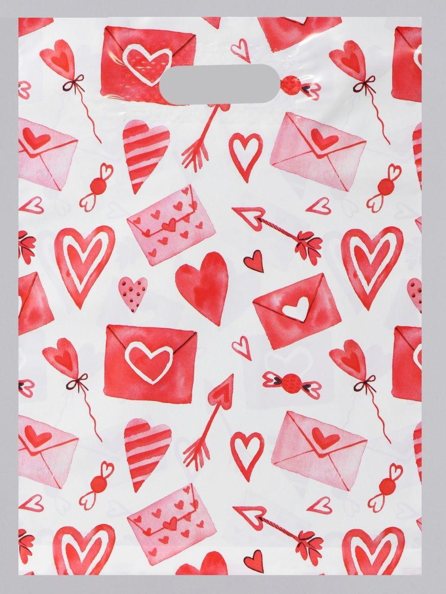 Подарочный пакет С любовью - 31 х 40 см.