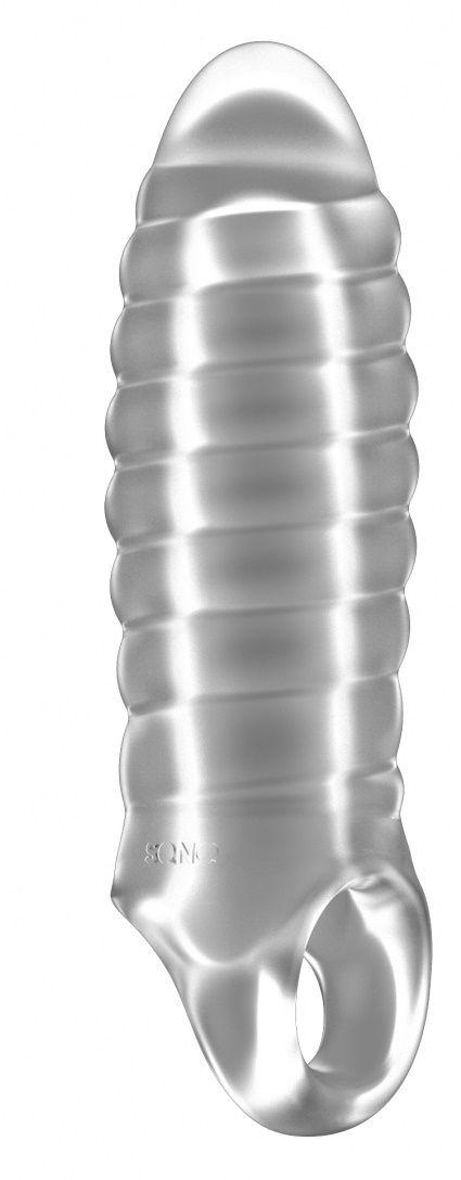 Прозрачная насадка на пенис закрытого типа N 36 Stretchy Thick Penis Extension - 15