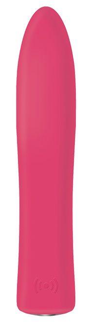 Розовая вибропуля SENSOR TOUCH BULLET - 12 см.