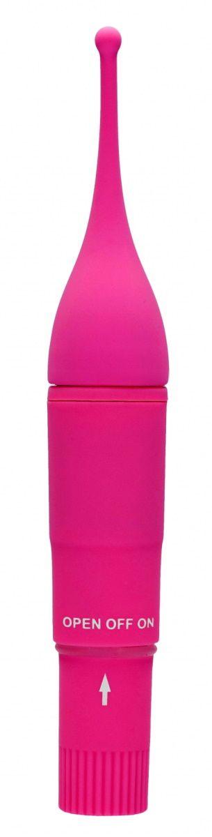Розовый клиторальный вибромассажер Clitoral Tickler - 16
