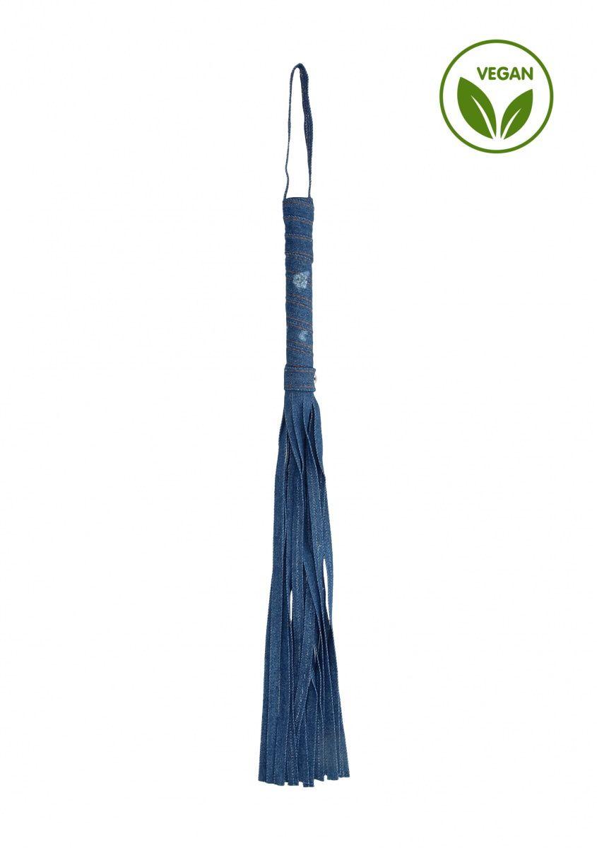 Синяя многохвостая джинсовая плеть Roughend Denim Style - 57 см.