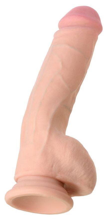 Телесный фаллоимитатор RealStick Elite DILDO Marc - 24 см.