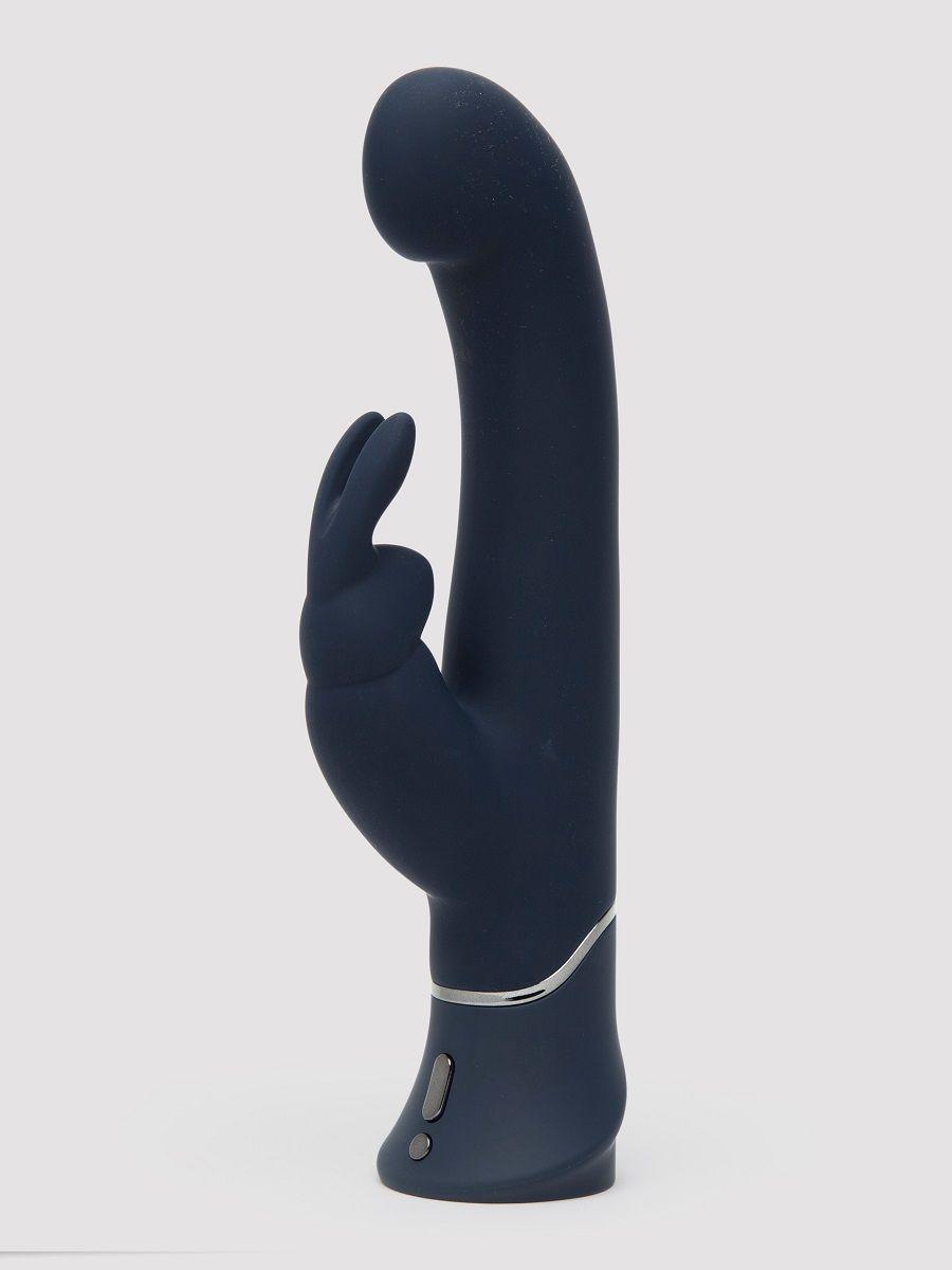 Темно-синий вибратор-кролик Greedy Girl Real-Feel Rabbit Vibrator - 25