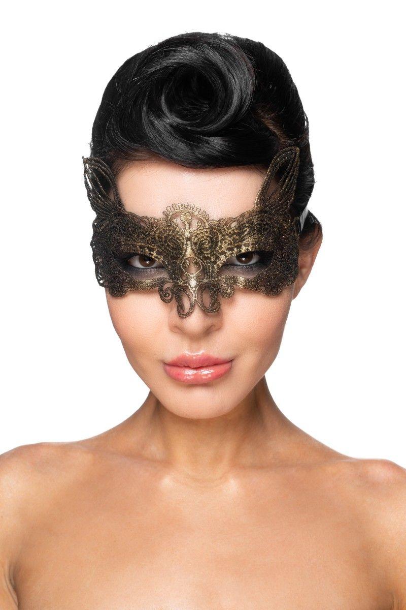 Золотистая карнавальная маска Альтарф